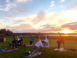 Sunset Yoga at Montauk Manor West Lawn